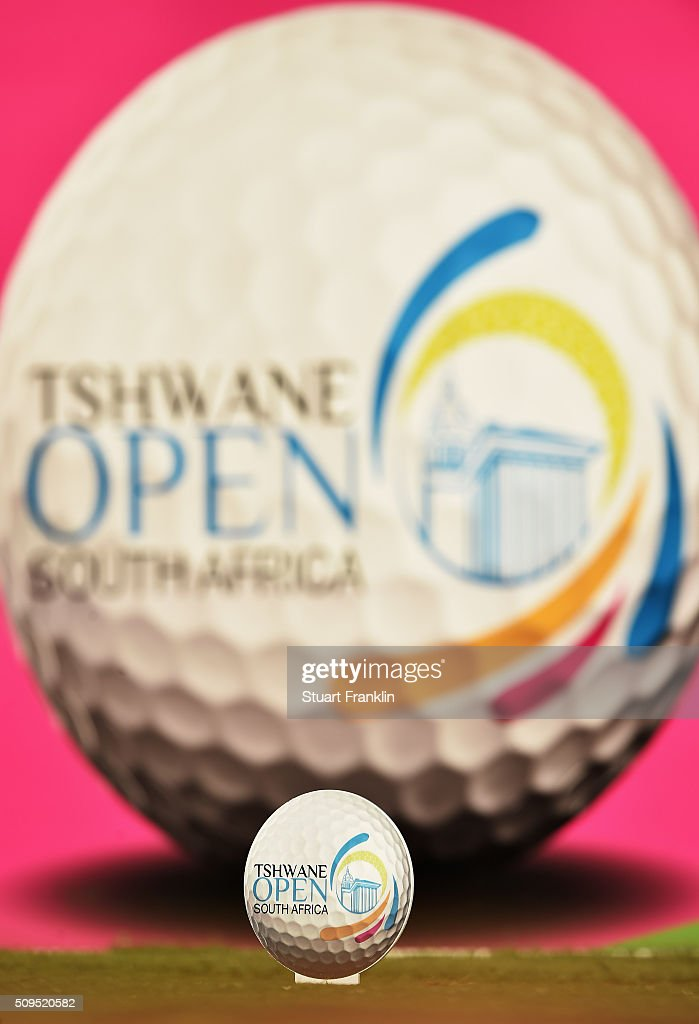 A sponsored tee marker is seen during the first round of the Tshwane Open at Pretoria Country Club on February 11, 2016 in Pretoria, South Africa.