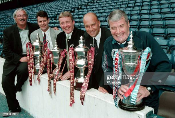 Sponsors Bell new season photocall at Ibrox Park Glasgow today Managers from the bookies favourite Scottish teams for promotion this season met up in...
