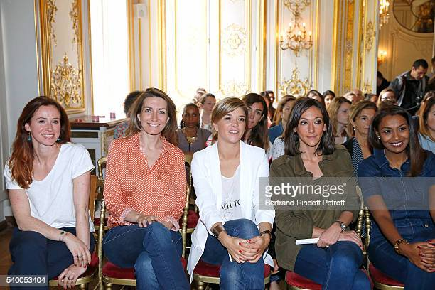 Sponsors of the event Sophie Ferjani of M6 AnneClaire Coudray of TF1 Benedicte la Chatelier of LCI Rebecca Fitoussi of LCI and Samia Ibrahim of...