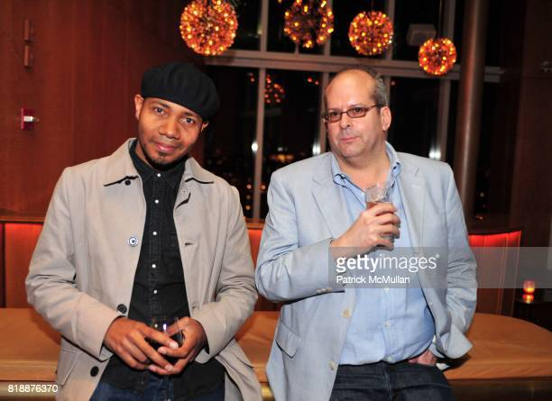 Spooky and Andrew Murr attend NOWNESS Presents the New York Premiere of JeanMichel Basquiat The Radiant Child at MoMa on April 27 2010 in New York...