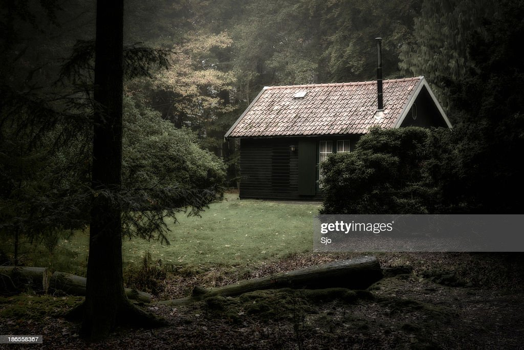 Spooky cabin in the woods