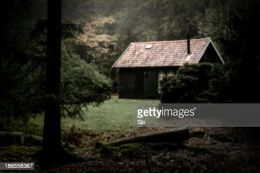 Spooky cabin in the woods