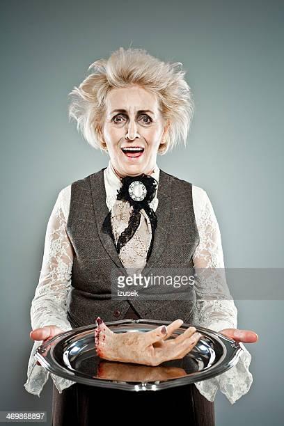 Spooky senior Dame