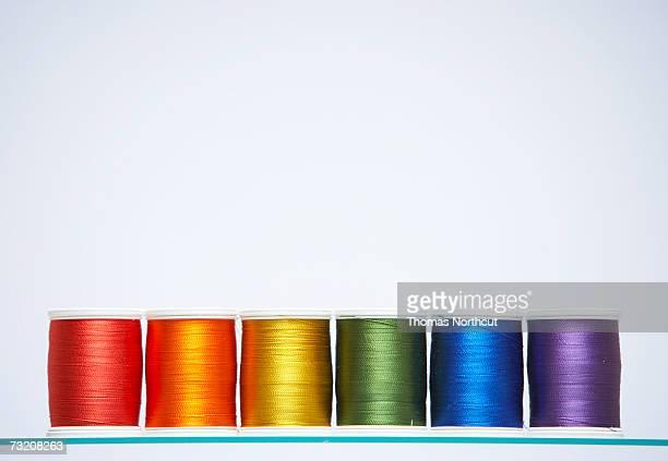 Spools of colourful thread