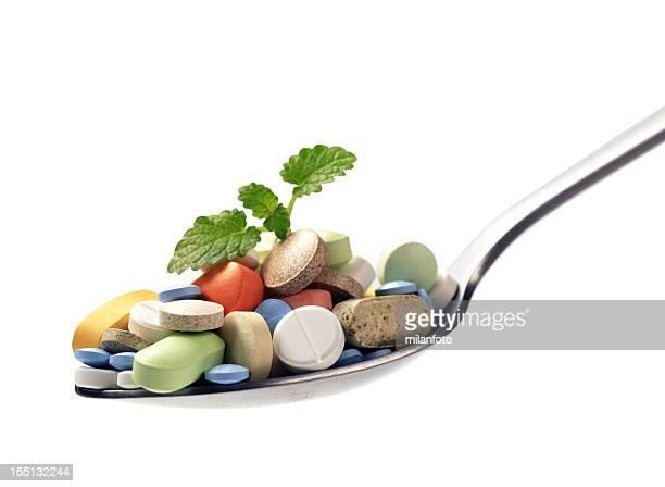Portion verschiedenen Drogen