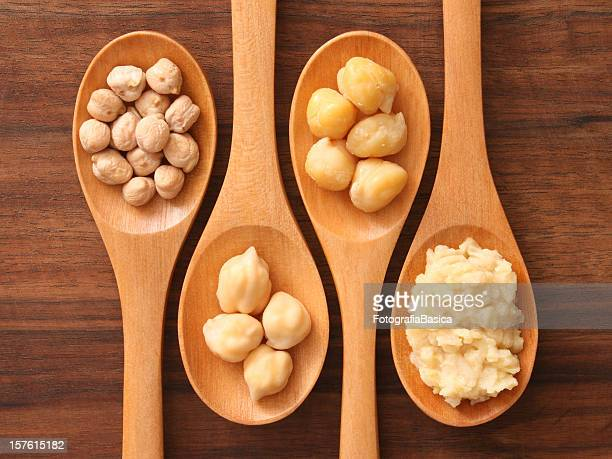 Spoons and chickpeas