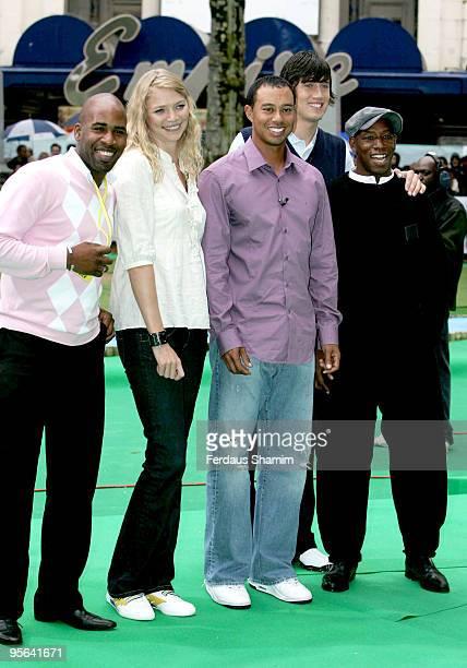 DJ Spoony Jodie Kidd Tiger Woods Vernon Kay and Ian Wright