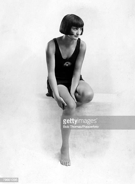 Sport 1924 Olympic Games Paris France Swimming Ethel Lackie USA the Gold medal winner in the Womens 100 metres Freestyle