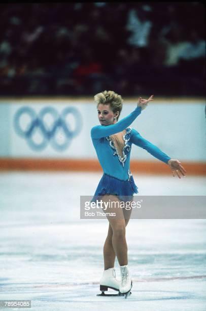 Sport 1988 Winter Olympic Games Calgary Canada Ladies Figure Skating Elizabeth Manley Canada the Silver medal winner