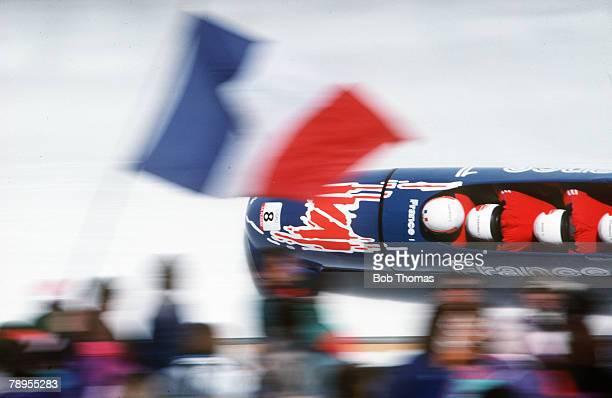 Sport 1992 Winter Olympic Games Albertville France 4 Man Bobsleigh France 2 Mingeon Poirot Stil Klinnik