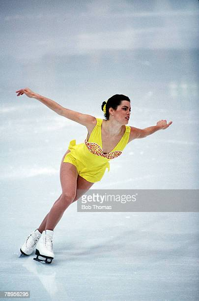 Sport 1994 Winter Olympic Games Lillehammer Norway Ice Skating Ladies Figure Skating Singles Nancy Kerrigan USA the Silver medal winner Her great...