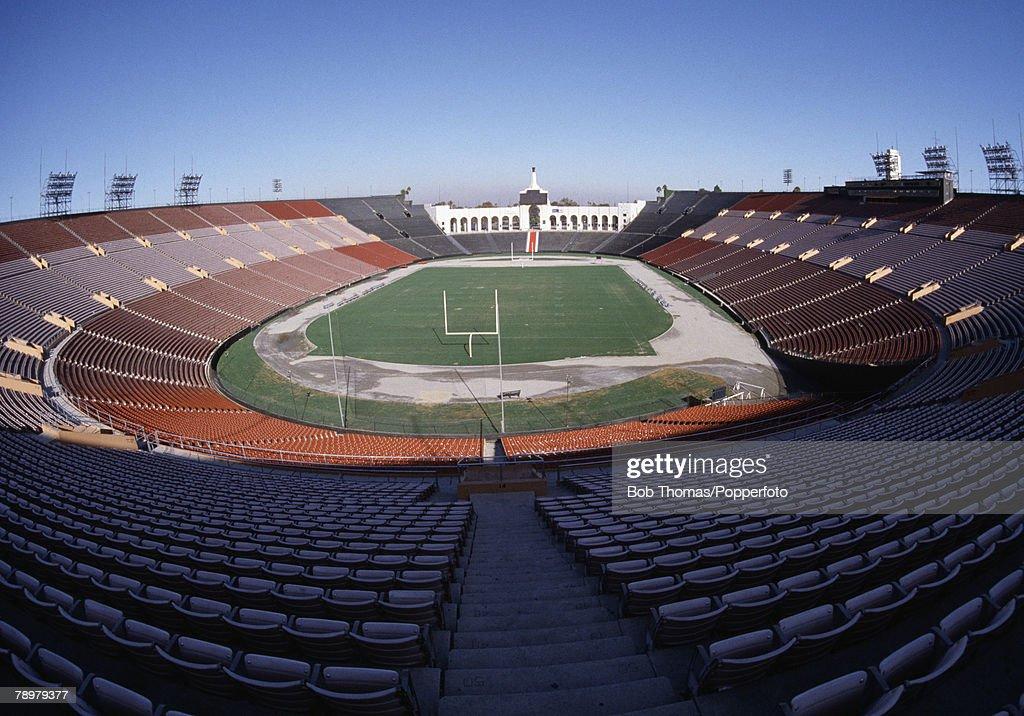 Sport American Football Los Angeles California USA General view of the Coliseum Memorial stadium