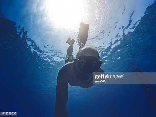 POV Sport and Activities: underwater selfie