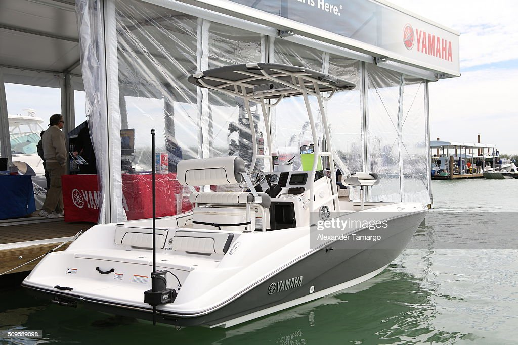 Sport at the marina at the Miami International Boat Show on February 11, 2016 in Miami, Florida.