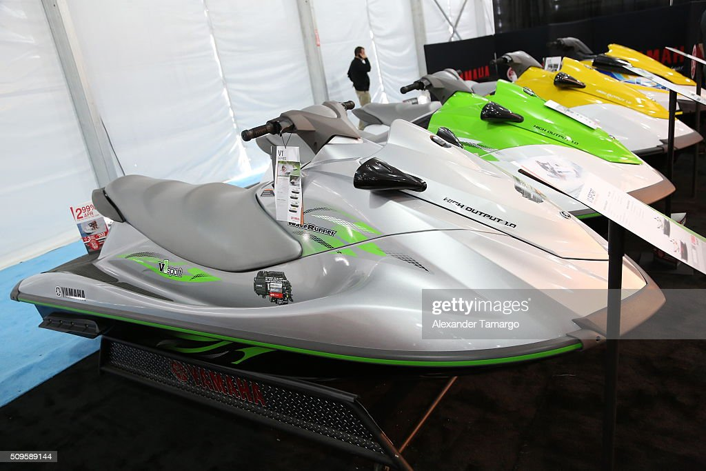 V1 Sport at the Miami International Boat Show on February 11, 2016 in Miami, Florida.