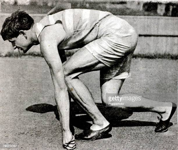 Sport Athletics 1900 Olympic Games Paris France Mens 400 metres USA's Maxwell 'Maxey' Long the 400 metres Gold medal winner