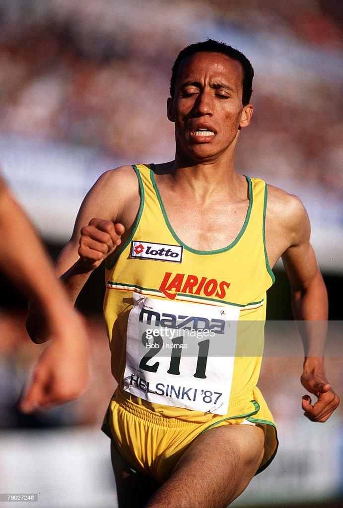 Sport Athletics IAAF Grand Prix Meeting World Games Helsinki Finland 2nd July 1987 Morocco's Said Aouita