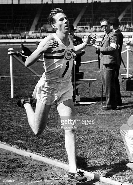 12th May 1951 White City London Roger Bannister wins the Mile at the British Games meeting British runner Roger Bannister born 1929 in Harrow will...