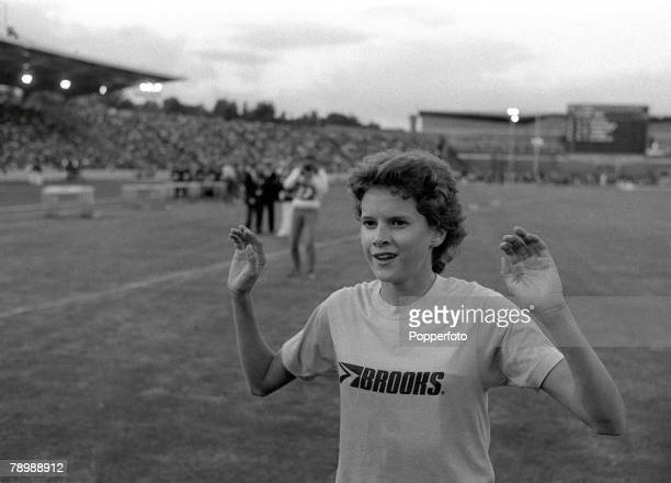 13th July 1984 South African born athlete Zola Budd pictured after winning the Invitation 2000 metres at Crystal Palace in a time of 5 mins 3315...
