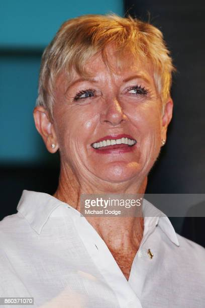 Sport Australia Hall of Fame Inductee and legend Water polo pioneer Debbie Handley Cummins poses at the National Sport museum before the Annual...