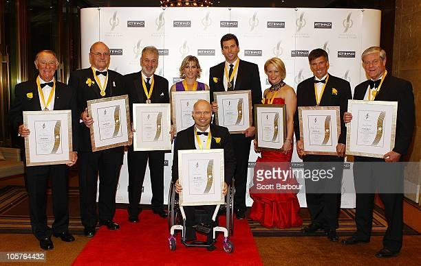 Sport Australia Hall of Fame inductees Grant Hackett Sarah Fitzgerald Ken Arthurson David Parkin Phillip Anderson Kirstie Marshall Alex Jesaulenko...