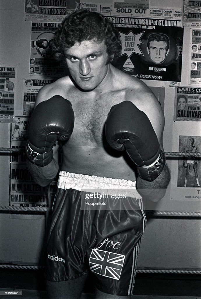 Sport, Boxing, 30th January 1973, European Heavyweight champion, Britain's <a gi-track='captionPersonalityLinkClicked' href=/galleries/search?phrase=Joe+Bugner&family=editorial&specificpeople=239003 ng-click='$event.stopPropagation()'>Joe Bugner</a> pictured during training in London for his forthcoming world title fight with World Champion Muhammad Ali in Las Vegas