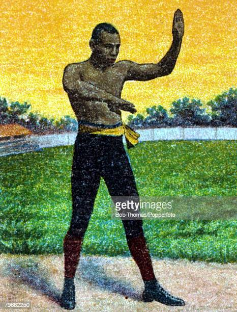 Sport Boxing Cigarette card Circa 1900 Joe Gans who became the first black Lightweight Champion in 1902 a veteran of over 150 fights
