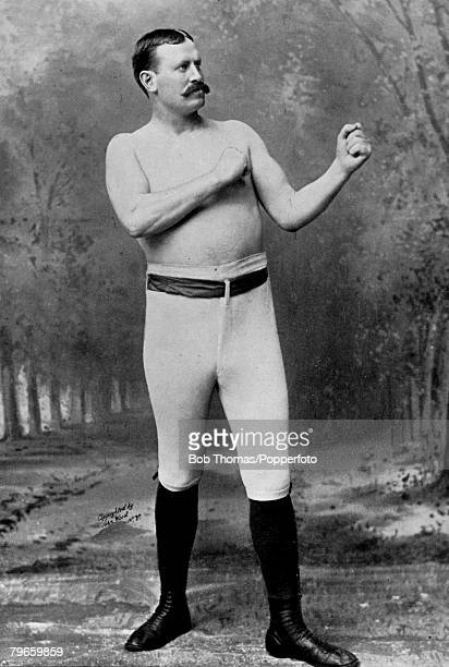 Sport Boxing circa 1890 Paddy Ryan Irish/American boxer a wrestler/boxer noted for his bull strength He fought John LSullivan in Championship and...