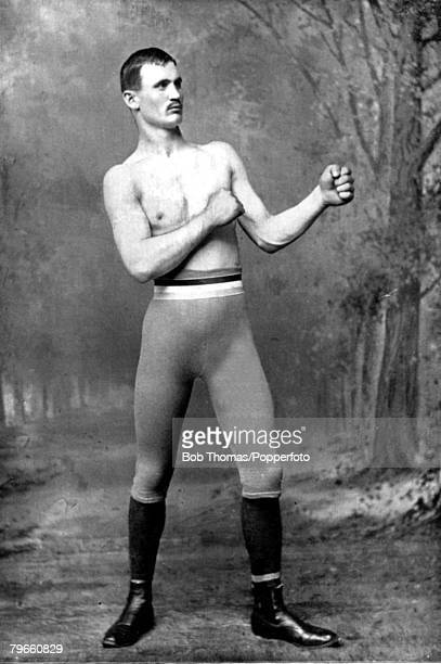 Sport Boxing circa 1894 James 'Jim' Glynnborn in Boston Mass in 1869 He was instructed in the manly art by Jack Dempsey the middleweight champion