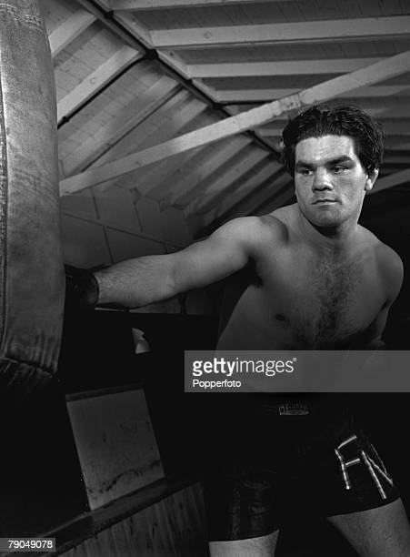 Sport Boxing England Sgt Freddie Mills of the RAF training Freddie later became Light Heavyweight World Boxing Champion