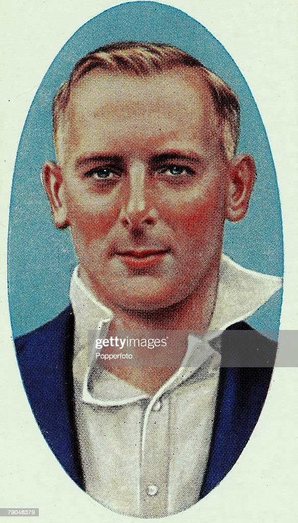 Sport, Cricket, Cigarette card, Circa 1935, Hedley Verity, Yorkshire, (1930-1939) and England