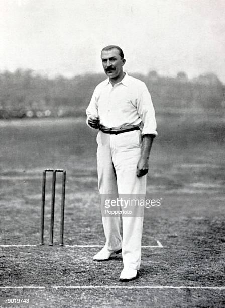 Sport Cricket Circa 1900 William Attewell Nottinghamshire and England He was a notable medium pace bowler taking 100 wickets in a season 10 times and...