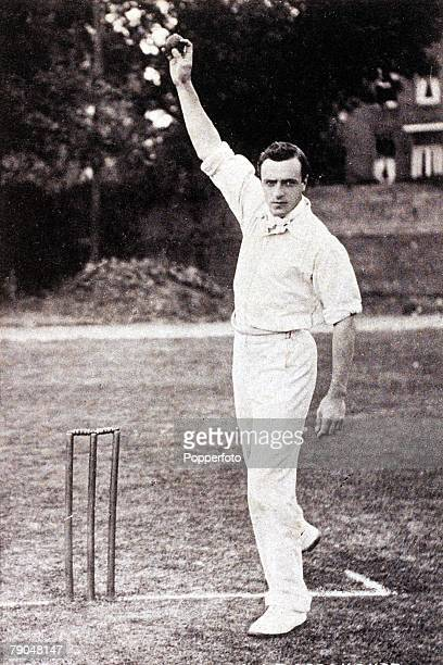 Sport Cricket Circa 1905 A picture of Bernard James Tindal Bosanquet who played for Oxford University Middlesex and England