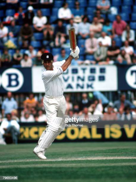 Sport Cricket Circa 1980's Mike Brearley of Middlesex is pictured batting
