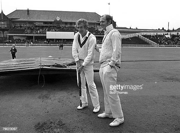 Sport Cricket County Championship Bramall Lane Sheffield 4th August 1973 Lancashire v Yorkshire Lancashire and Yorkshire captains David Lloyd and...