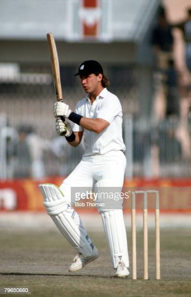 Sport Cricket England Tour of Pakistan One Day International Peshawar 22nd November 1987 England beat Pakistan by 98 runs England's Chris Broad is...