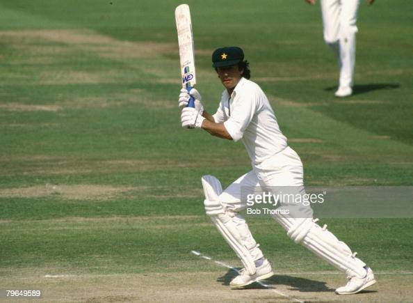 Sport Cricket Lord's pic August 1987 MCC BiCentennial Match Imran Khan Pakistan Imran Khan played in 88 Test matches for Pakistan between 19711992