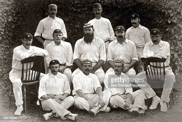 13th August 1888 The England team that faced Australia in the 2nd Test match at Kennington Oval winning by an innings and 137 runs England back row...