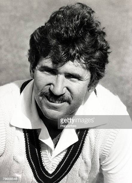 13th May 1981 A portrait of Australia's Allan Border one of Australia's greatest cricketers a left hand bat and slow left arm bowler who as captain...