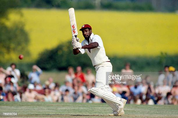 18th May 1980 Tour Match at Bletchley Northamptonshire v West Indies Viv Richards West Indies master batsman Viv Richards played in 121 Test matches...