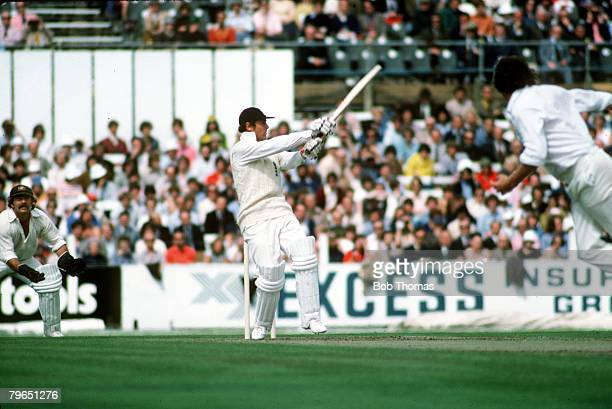 1977 5th Test Match at The Oval England v Australia England's Geoff Boycott batting swinging a ball away on the leg side
