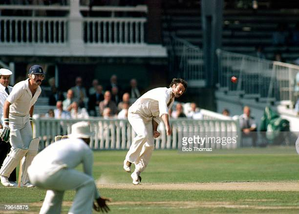 1980 Centenary Test Match at Lord's England v Match Drawn Dennis Lillee in bowling action Dennis Lillee the Australia fast bowler who played in 70...