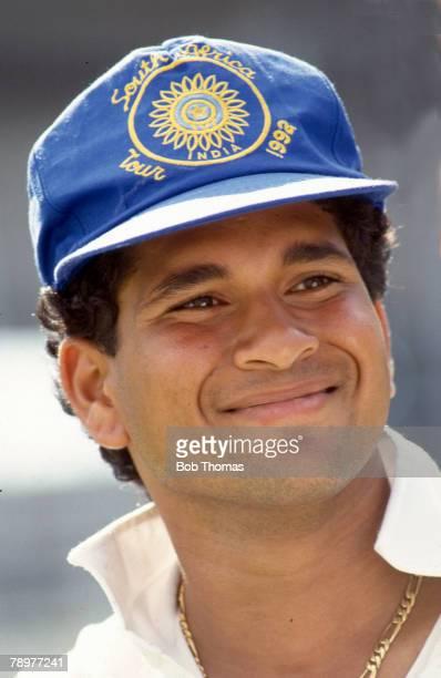 1993 Indian international Test cricketer Sachin Tendulkar pictured during the Indian tour of England