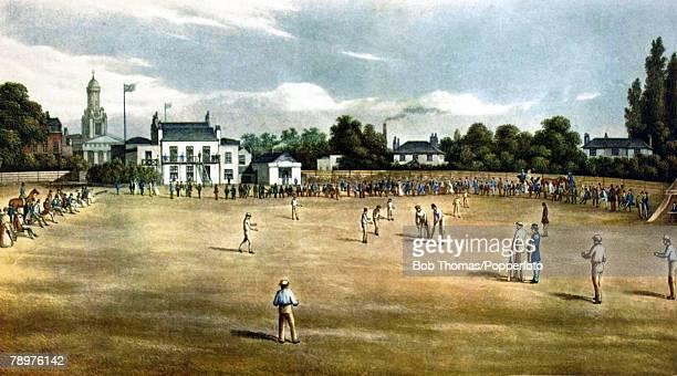 19th Century This illustration shows Surrey Cricket Ground at Kennington Oval