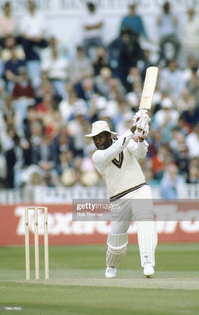 19th May 1988 Ist Texaco Trophy Match at Edgbaston England beat West Indies by 6 wickets Malcolm Marshall West Indies fast bowler Malcolm Marshall...
