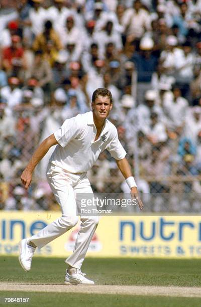 22nd October 1987 World Cup in Delhi India beat Australia by 56 runs Tom Moody Australia who played in 8 Test matches for Australia 19891992
