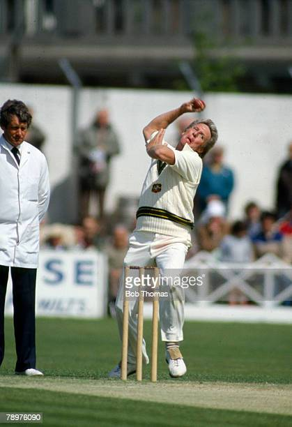 9th May 1985 Tour Match at Taunton Somerset v Australia Australia Jeff Thomson Australia one of the greatest fast bowlers who played in 51 Test...