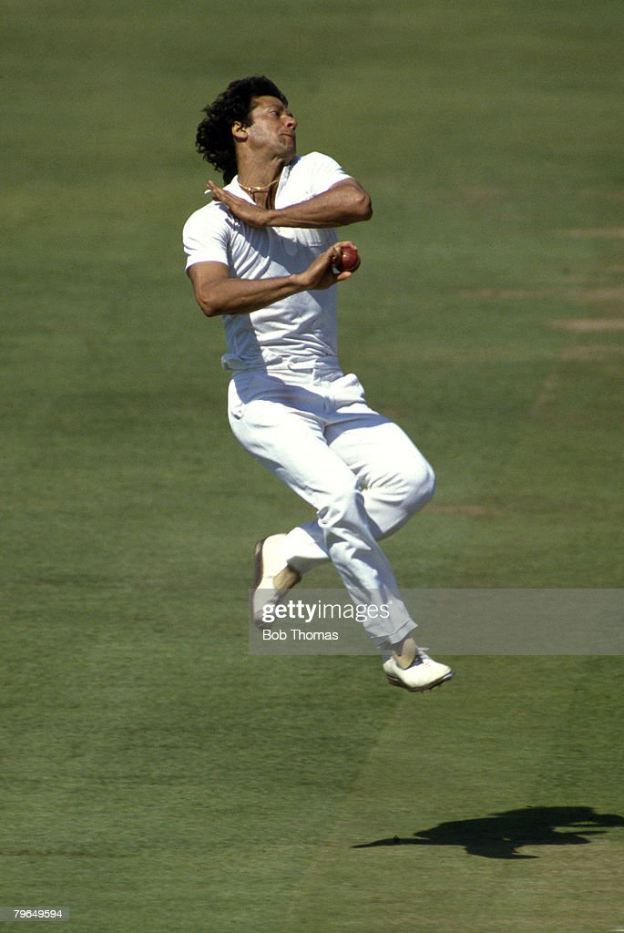 August 1987 MCC BiCentennial Match at Lord's MCC v Rest of the World Imran Khan Pakistan Imran Khan played in 88 Test matches for Pakistan between...