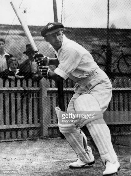 circa 1930's Australia's Donald Bradman in the nets Donald Bradman played in 52 Test matches for Australia between 19281948 and was perhaps the...
