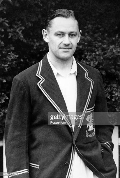 circa 1933 George 'Gubby' Allen Middlesex and England allrounder who played in 25 Test matches between 19301948 He was born in Australia knighted for...